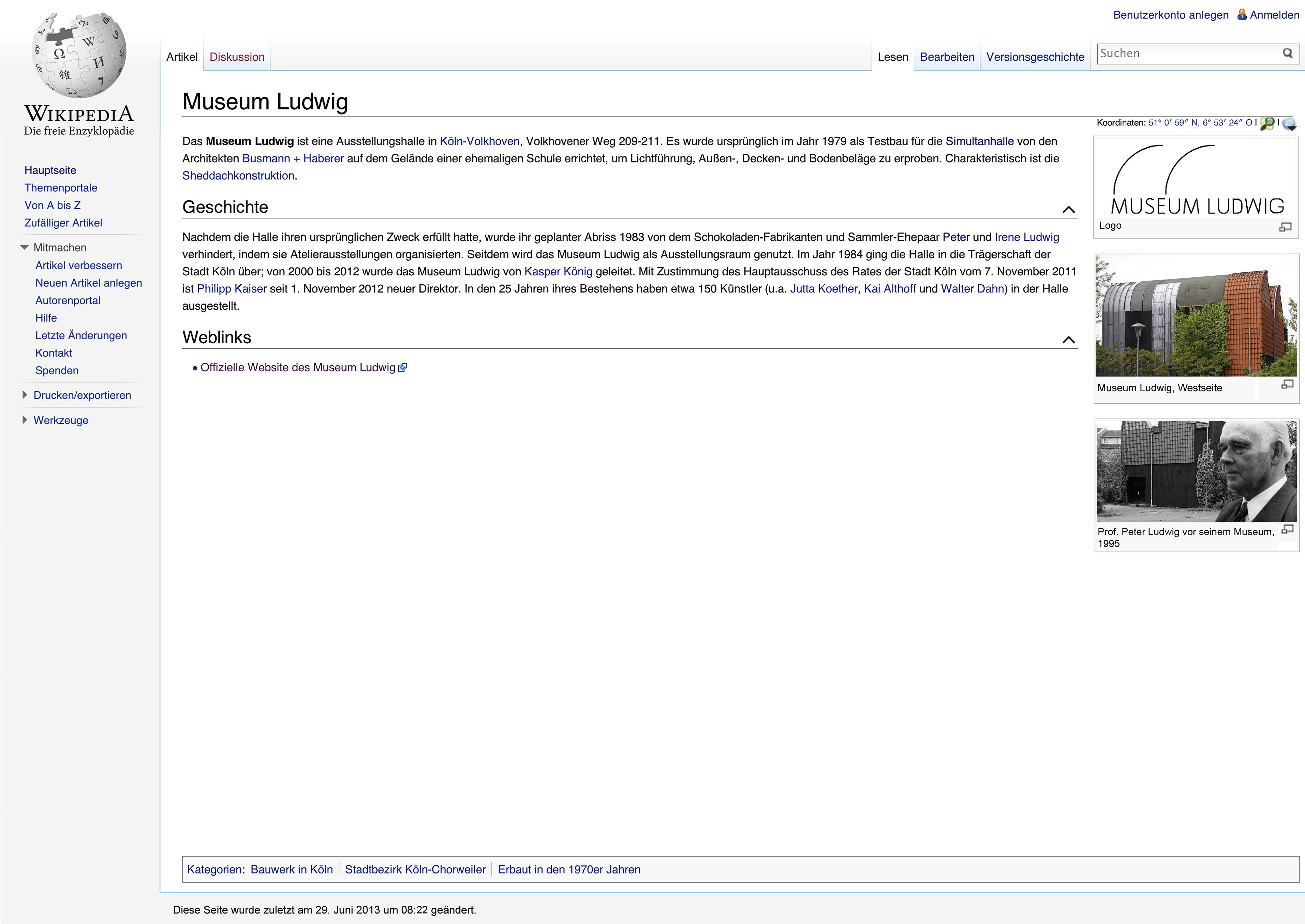 MuseumLudwig Wikipedia in ludwig simultan
